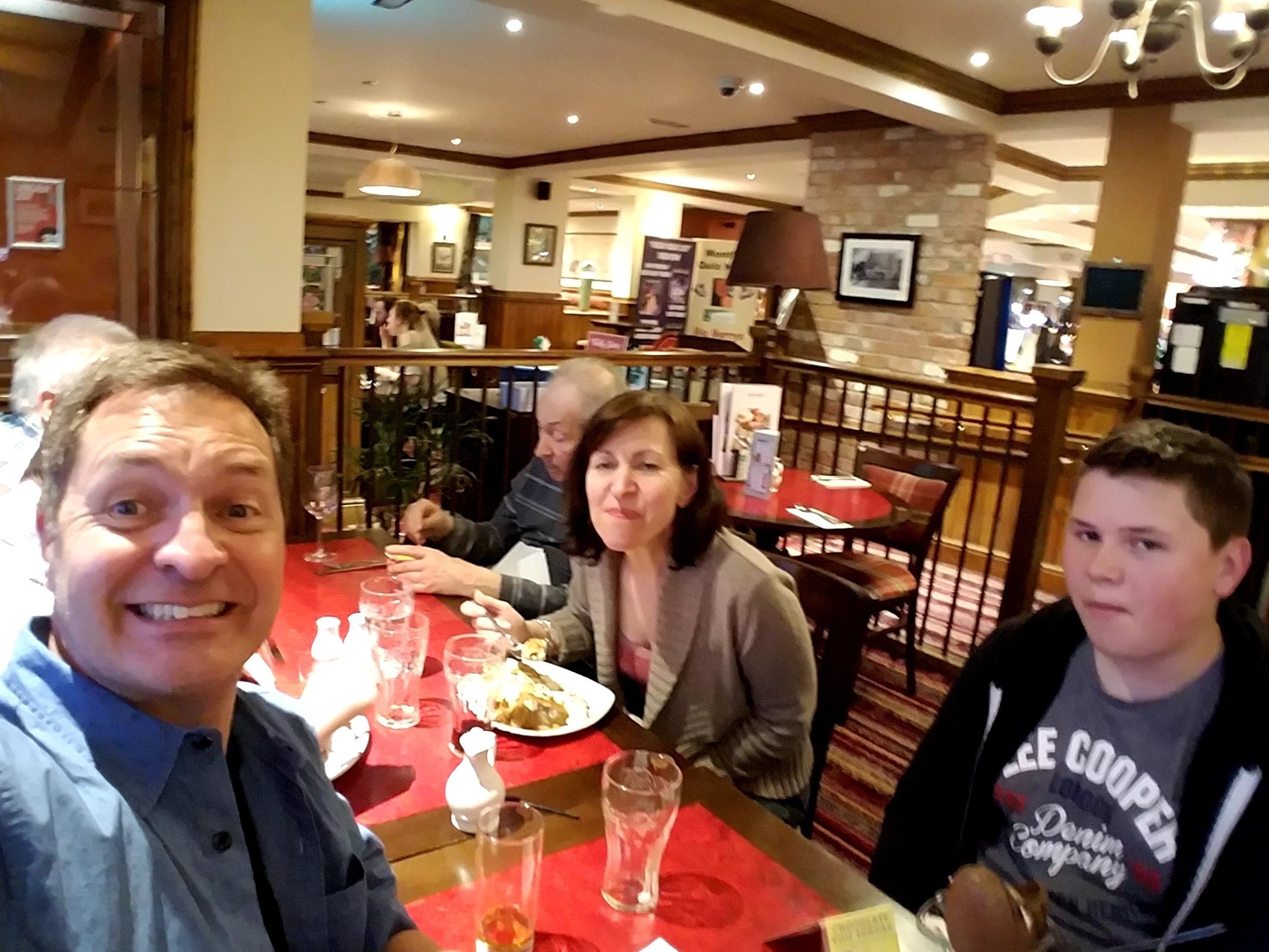 Family dinner in England