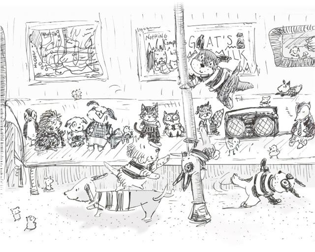 allyn_howard_sketch dancing dogs subway.jpg