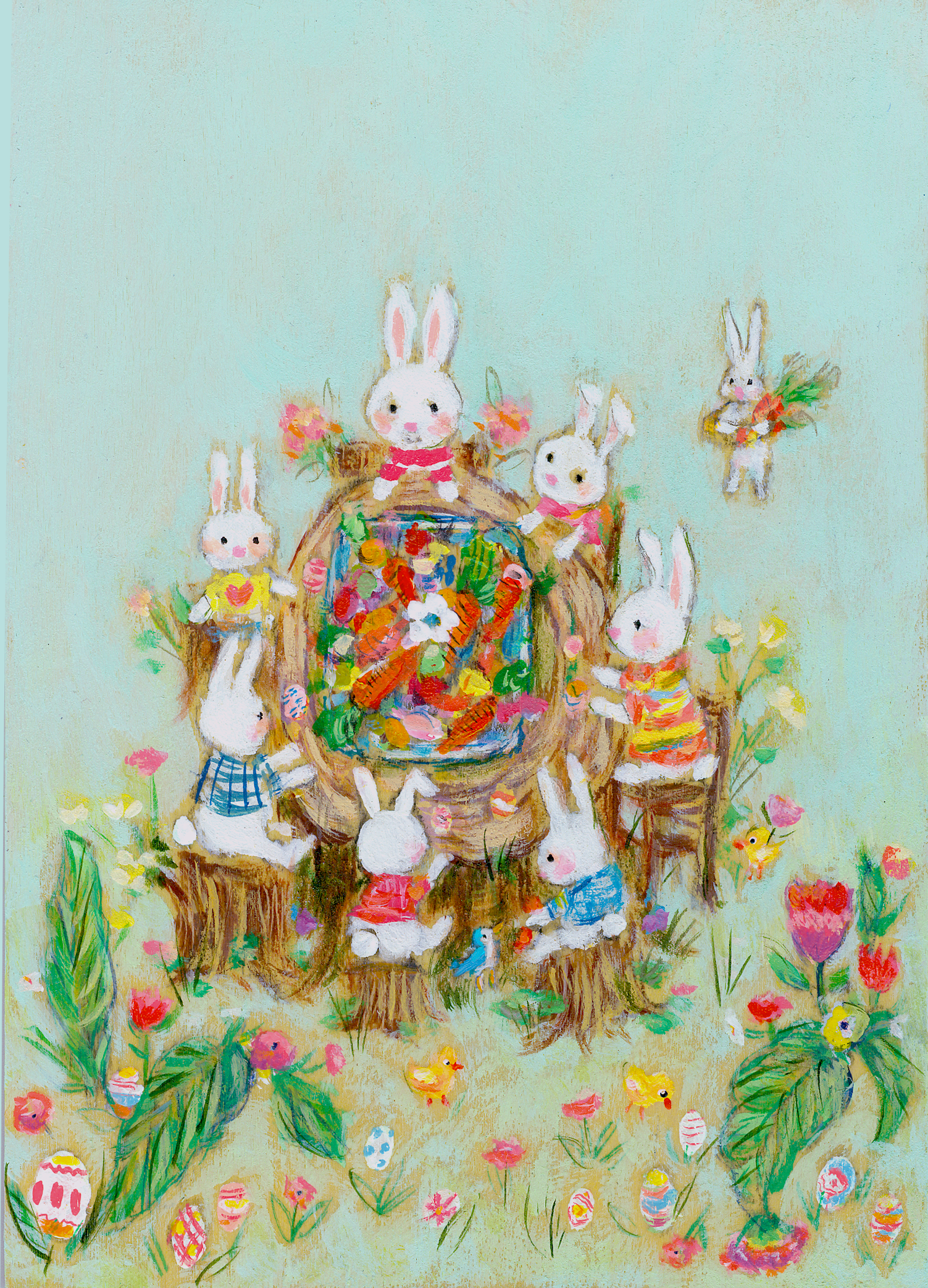 Allyn_Howard_Bunnies_Easter-feast.png