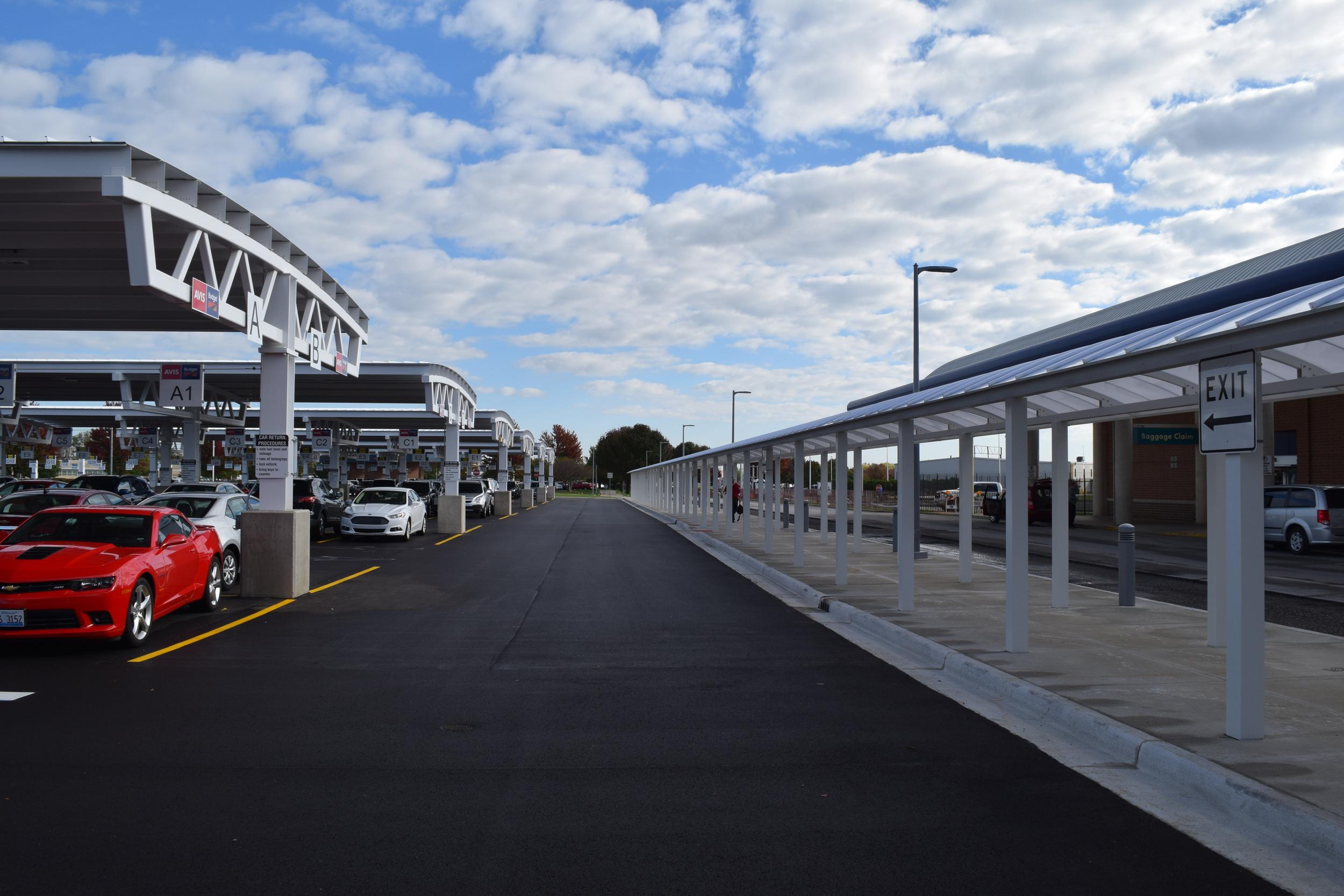 Fort Wayne Airport Car Rental & Parking Area Modifications
