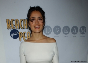SELMA HAYAK AT RYP LAUNCH IN NYC...