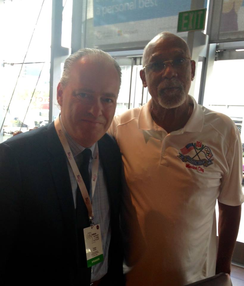 Fantastic to work with the great civil rights and Olympic Champion, John Carlos