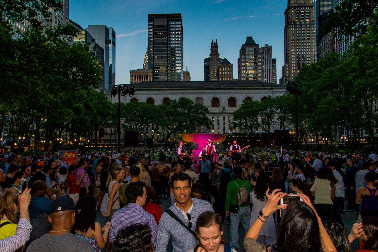"The Polka Brothers at ""Bryant Park Dance Party"" 2017 in New York City."