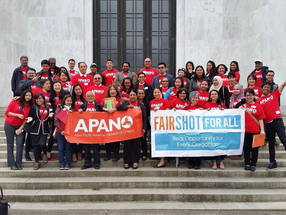 APANO members lobbying at the Oregon State Capitol.