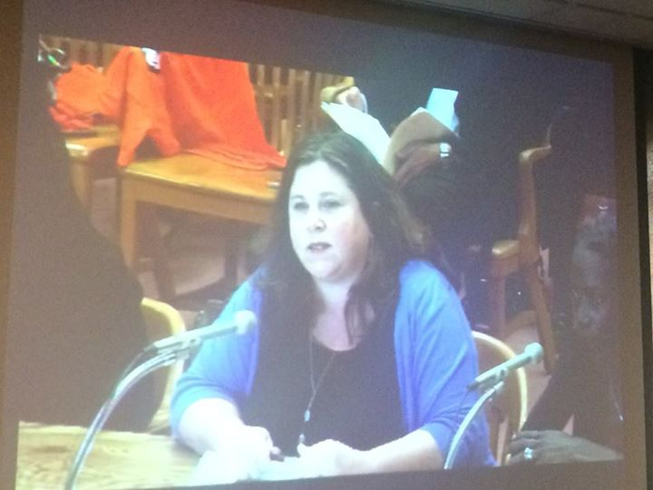 Jeanna Frazzini, Co-Director of Basic Rights Oregon, testifying in support of HB 2002 to end profiling.