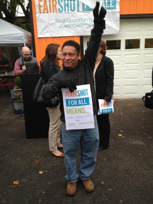 Romeo Sosa of Voz at the Fair Shot 2016 Agenda Launch.