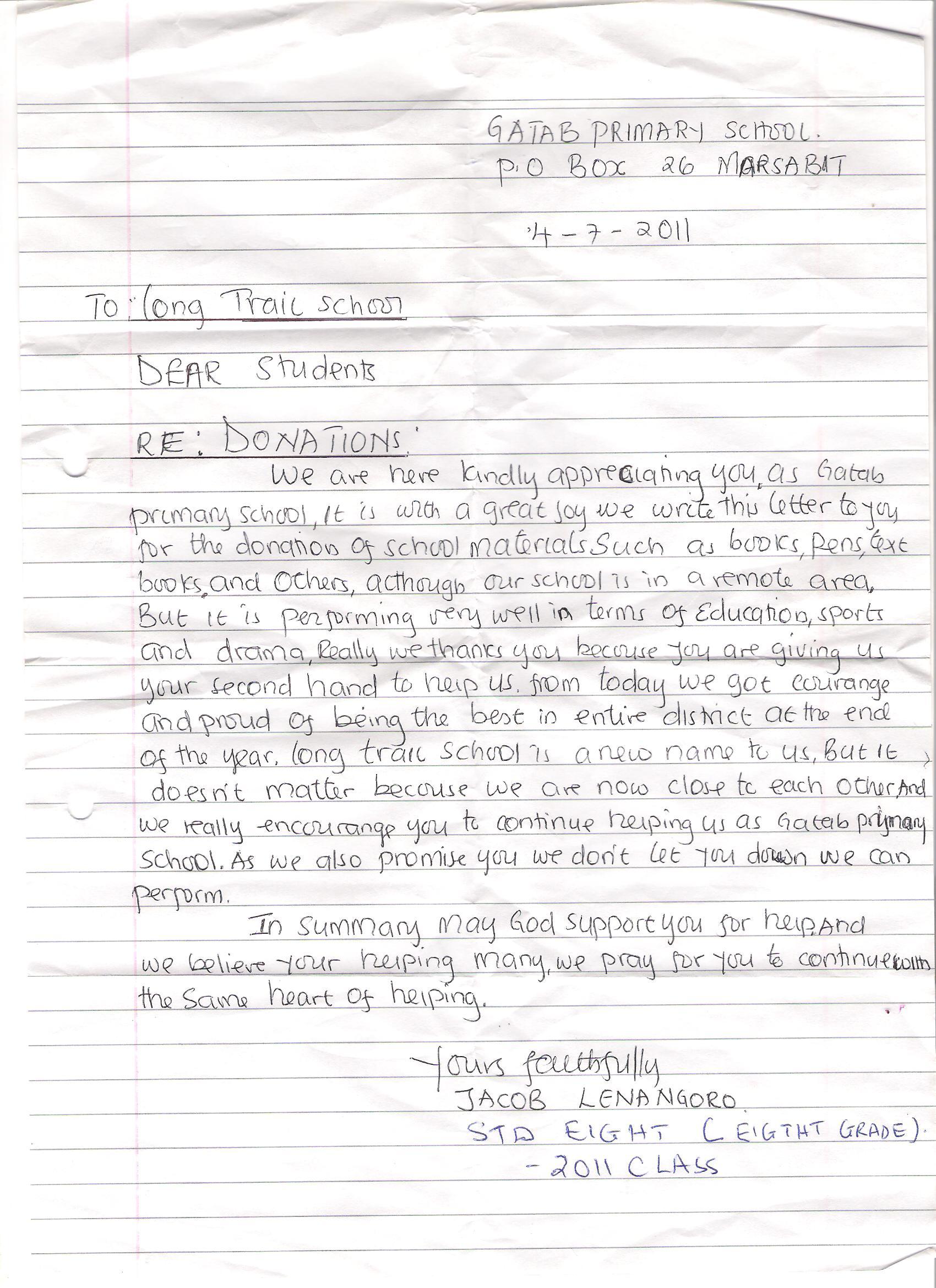 Letter to Long Trail School.jpg