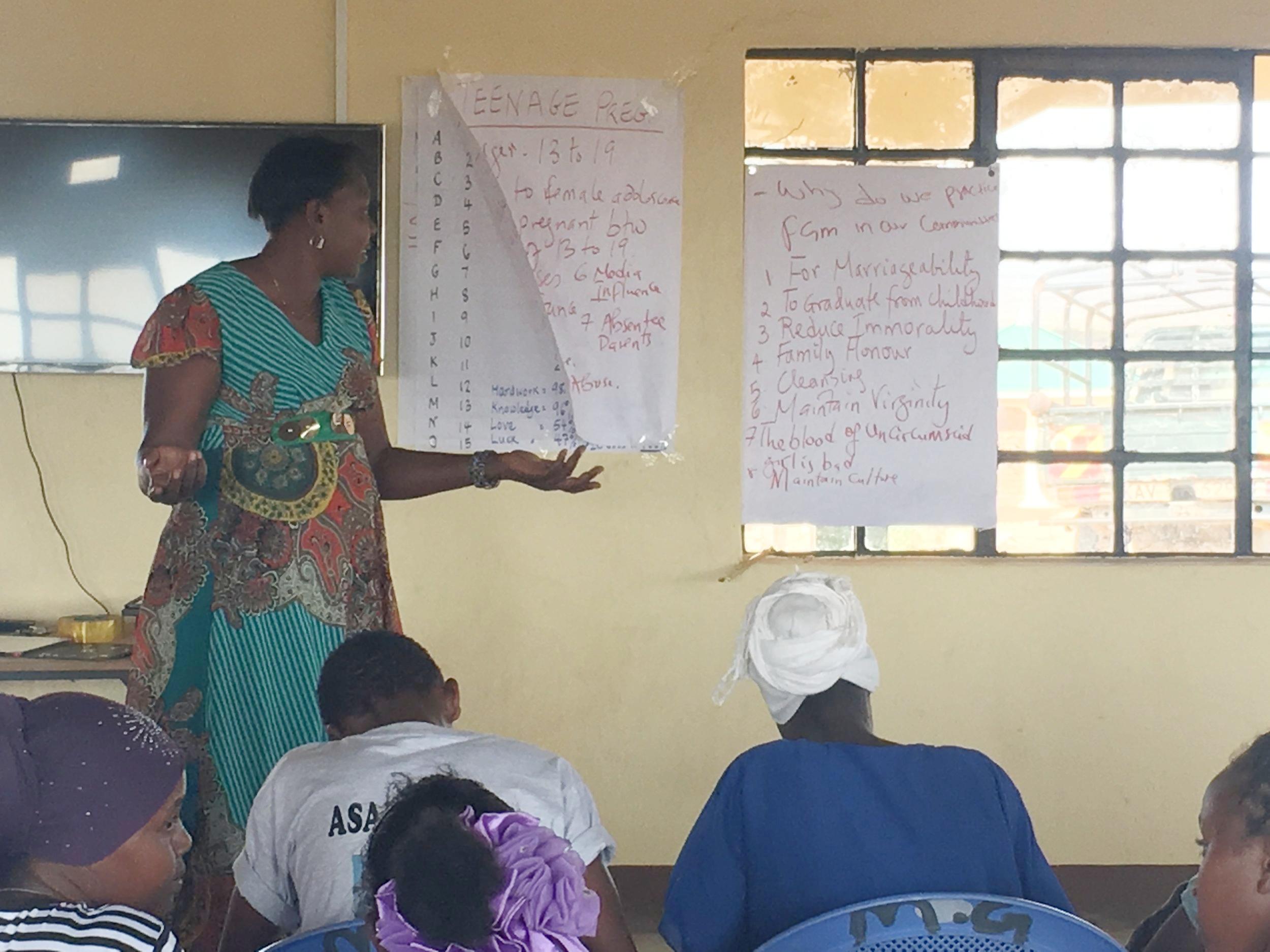 Mentor sharing information regarding FGM