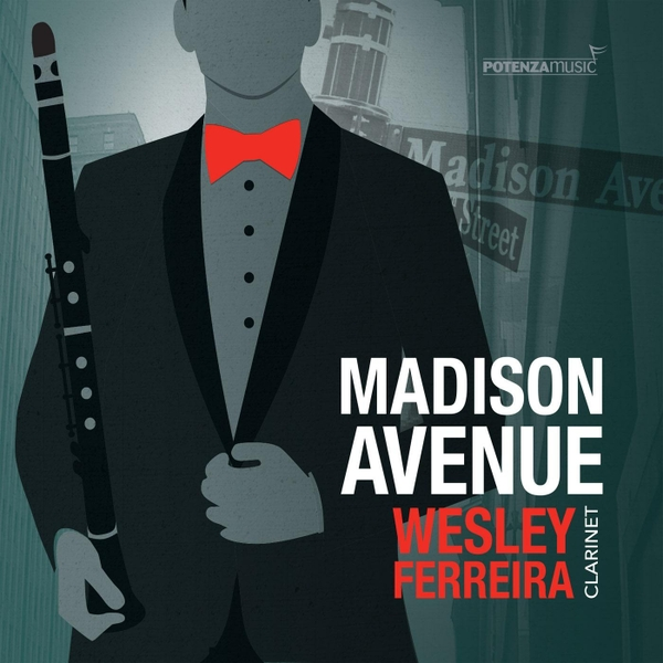 """Album art for Wesley Ferreira's """"Madison Avenue,"""" available on iTunes, featuring my piece as the title track."""