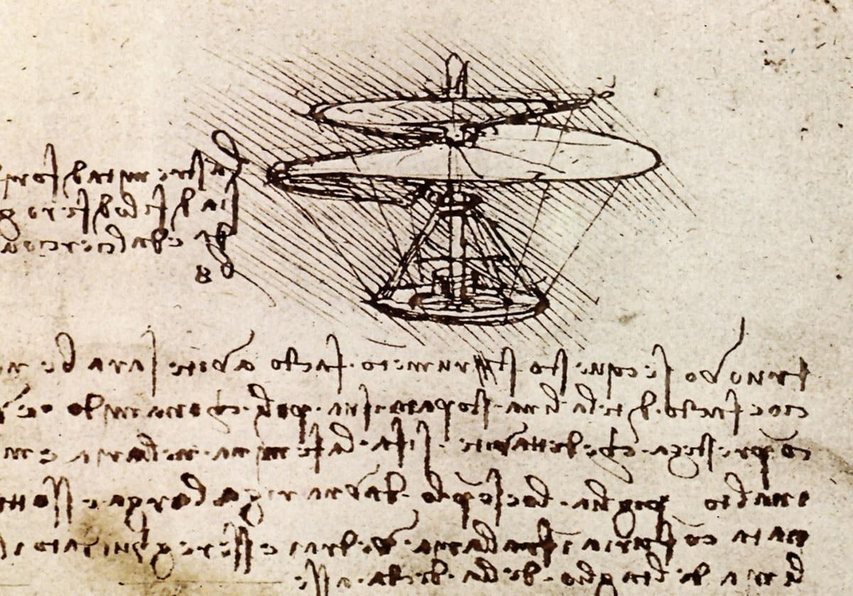 da Vinci's aerial screw