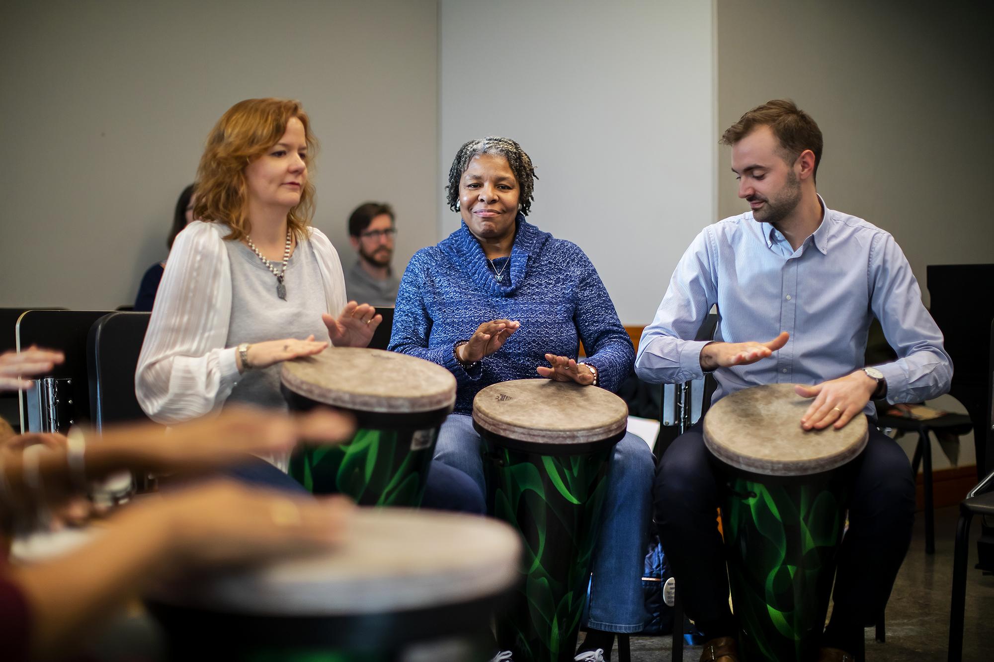 A Creative Expression Through Music drum circle. Photo by Eric Sucar/Penn University Communications.