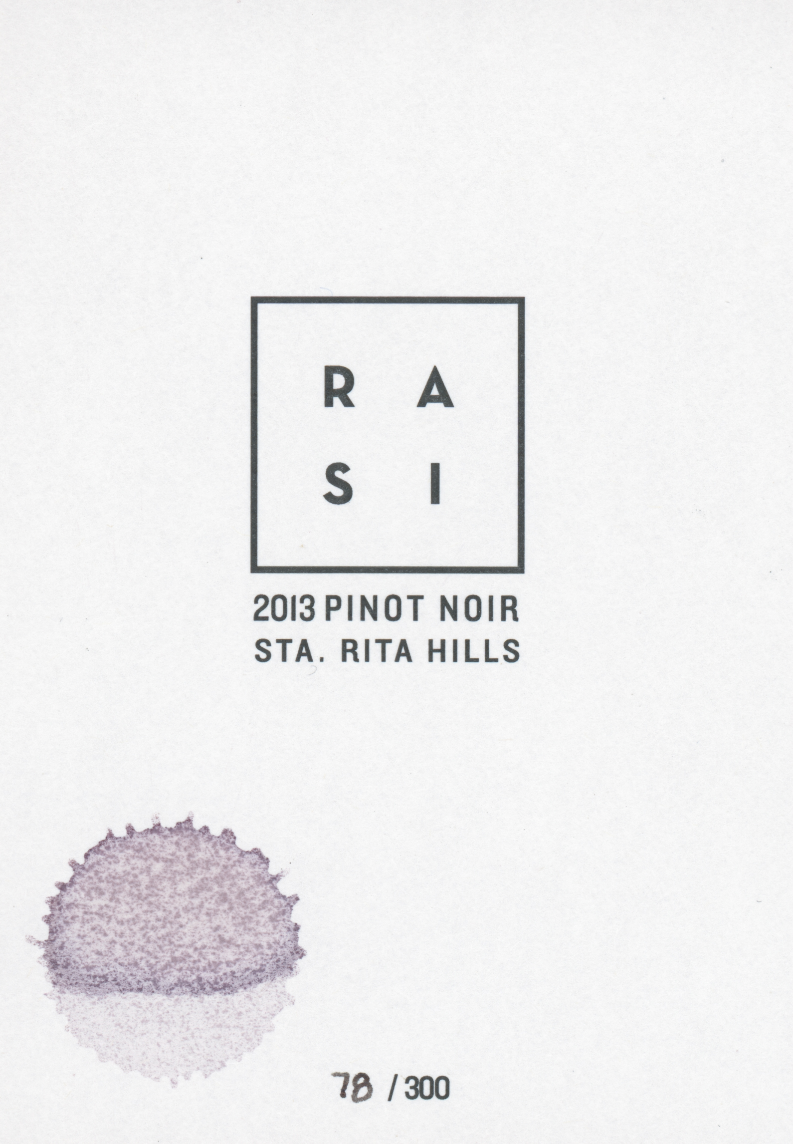 Aaron Seo  February 14, 2015. My 1st bottle of Rasi 78/300!!! Killed this baby. Should've waited for a few months at least :( Love this RASI's label.