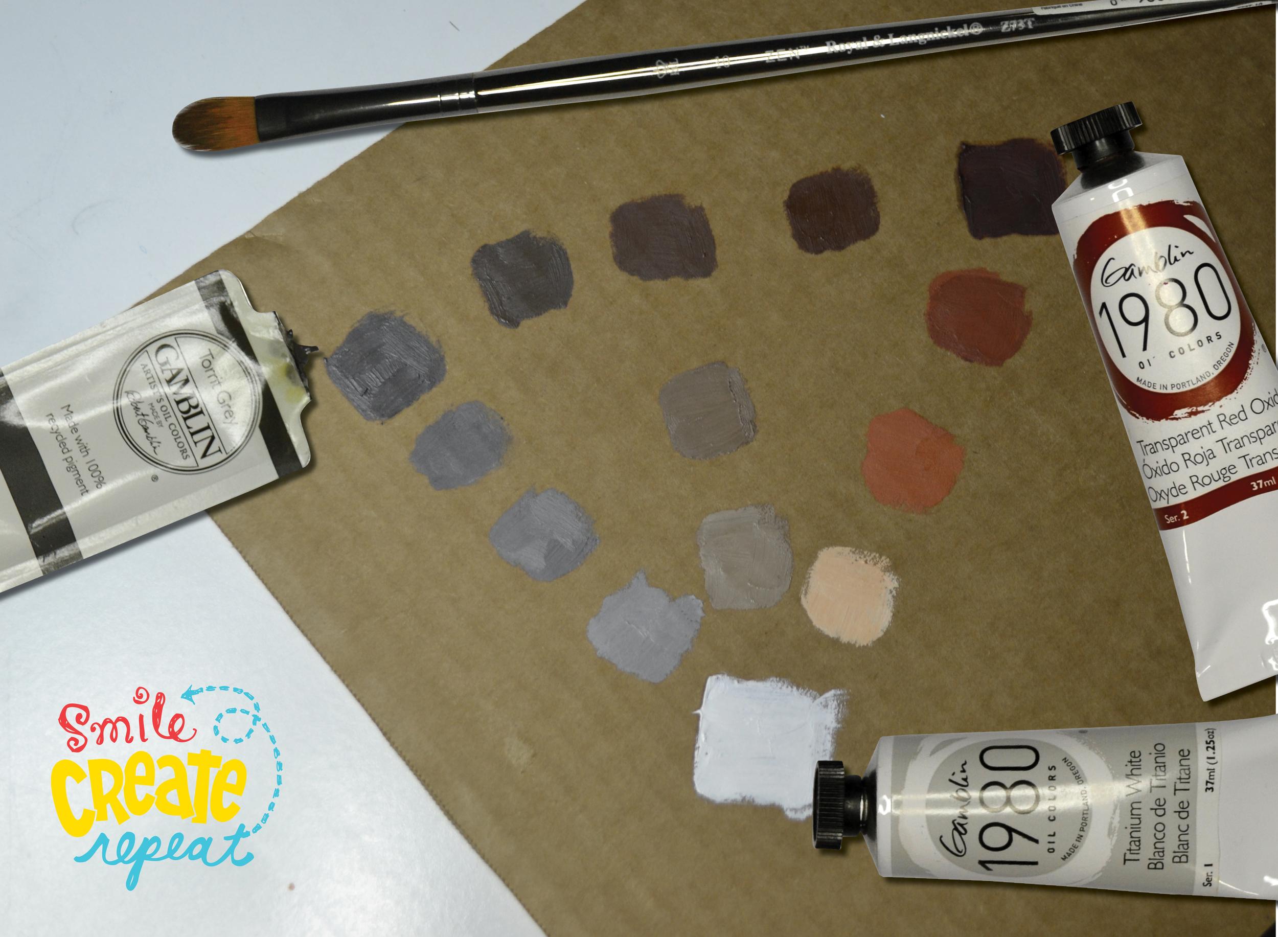 mixing-Gamblin-oil-paints