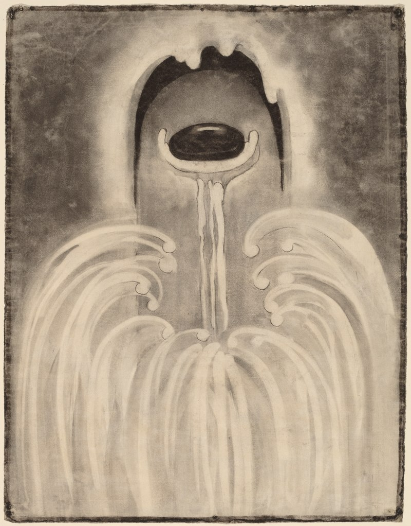Georgia O'Keeffe charcoal drawing  Image via    National Portrait Gallery