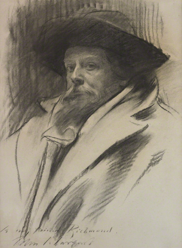 John Singer Sargent charcoal portrait drawing  Image via    National Portrait Gallery