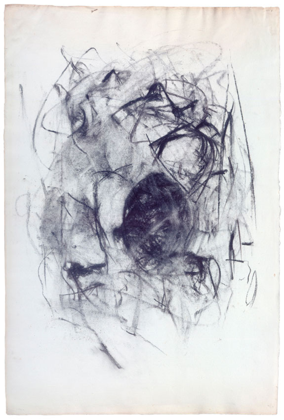 Joan Mitchell charcoal drawing  Image via    Joan Mitchell Foundation