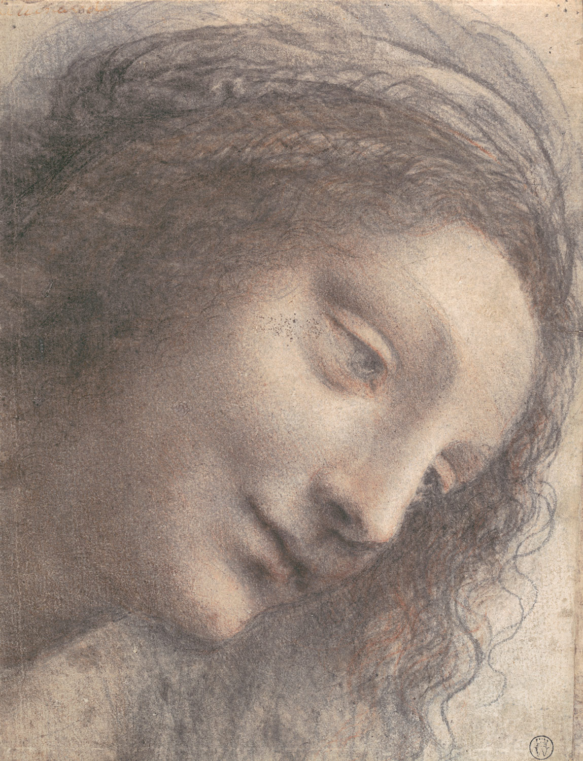 Leonardo da Vinci charcoal drawing  Image via    The MET