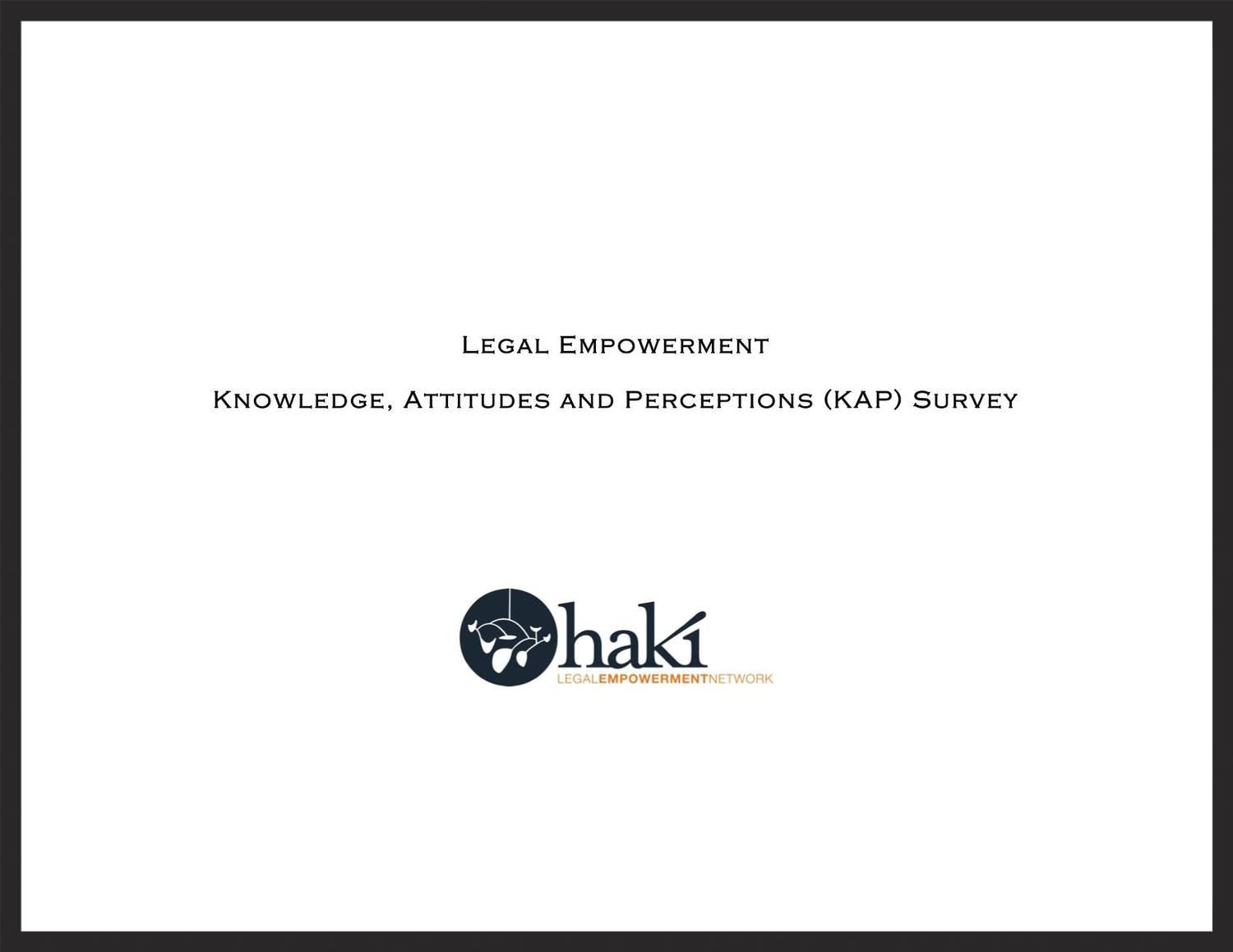 Legal Empowerment KAP Survey