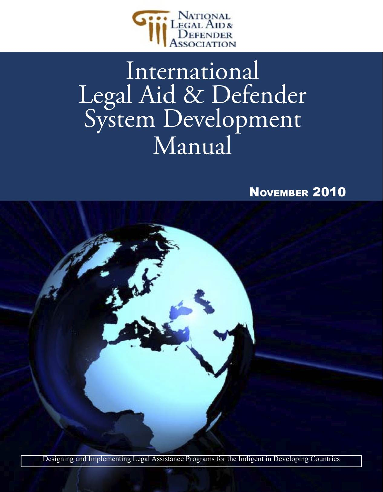 International Legal Aid & Defender System Manual