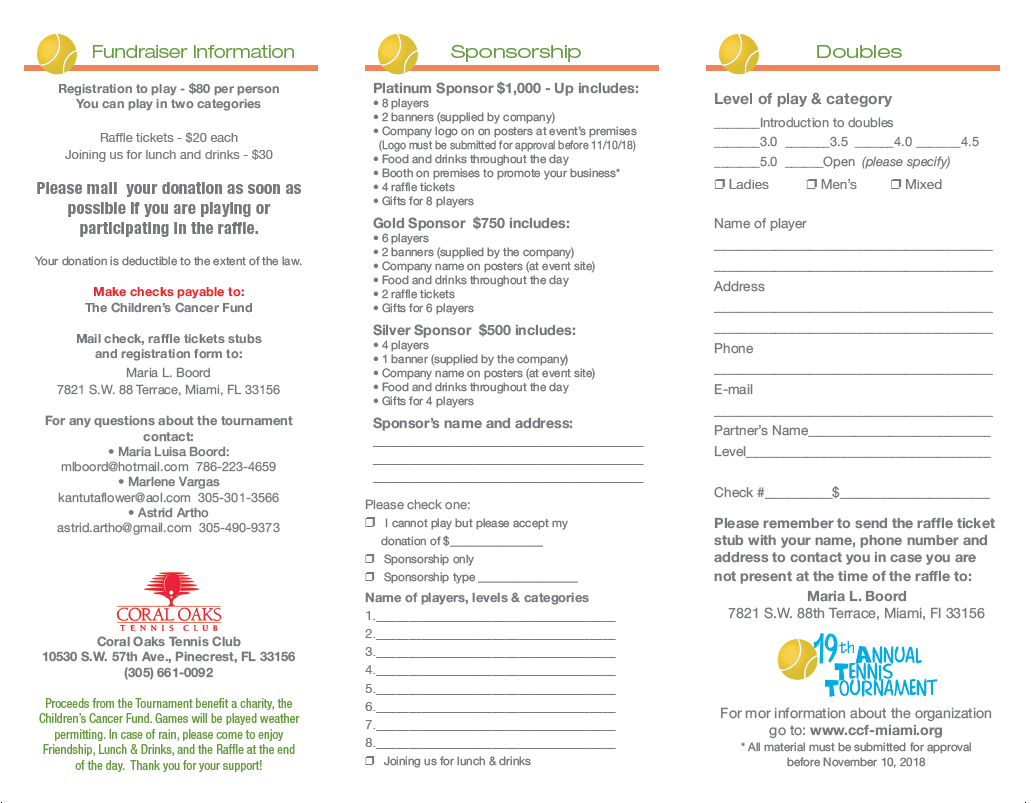 Please fill out the Registration Form -