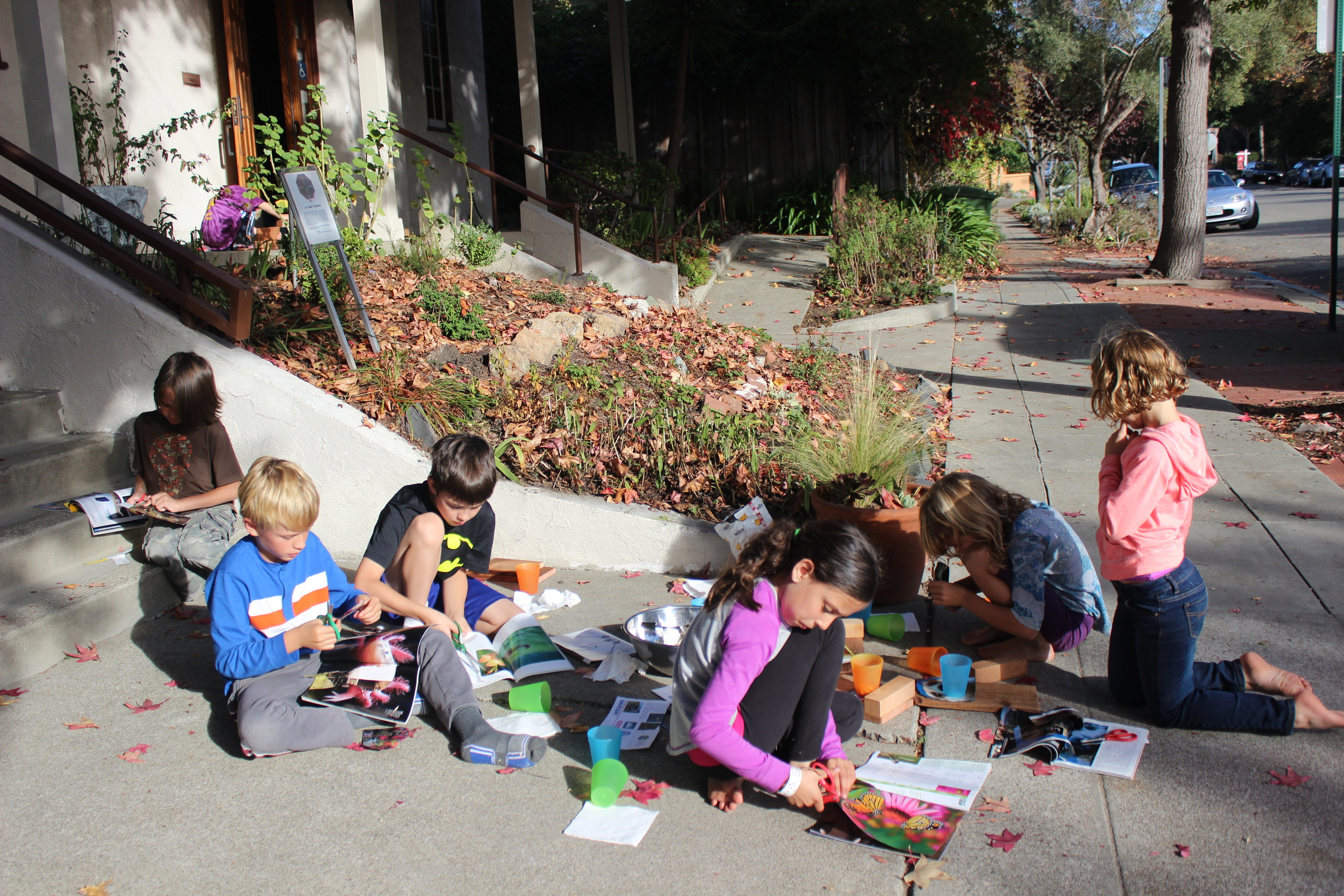 Kids Crafting outside.JPG
