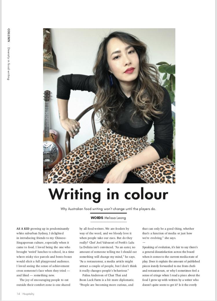 Melissa Leong Hospitality Magazine Diversity