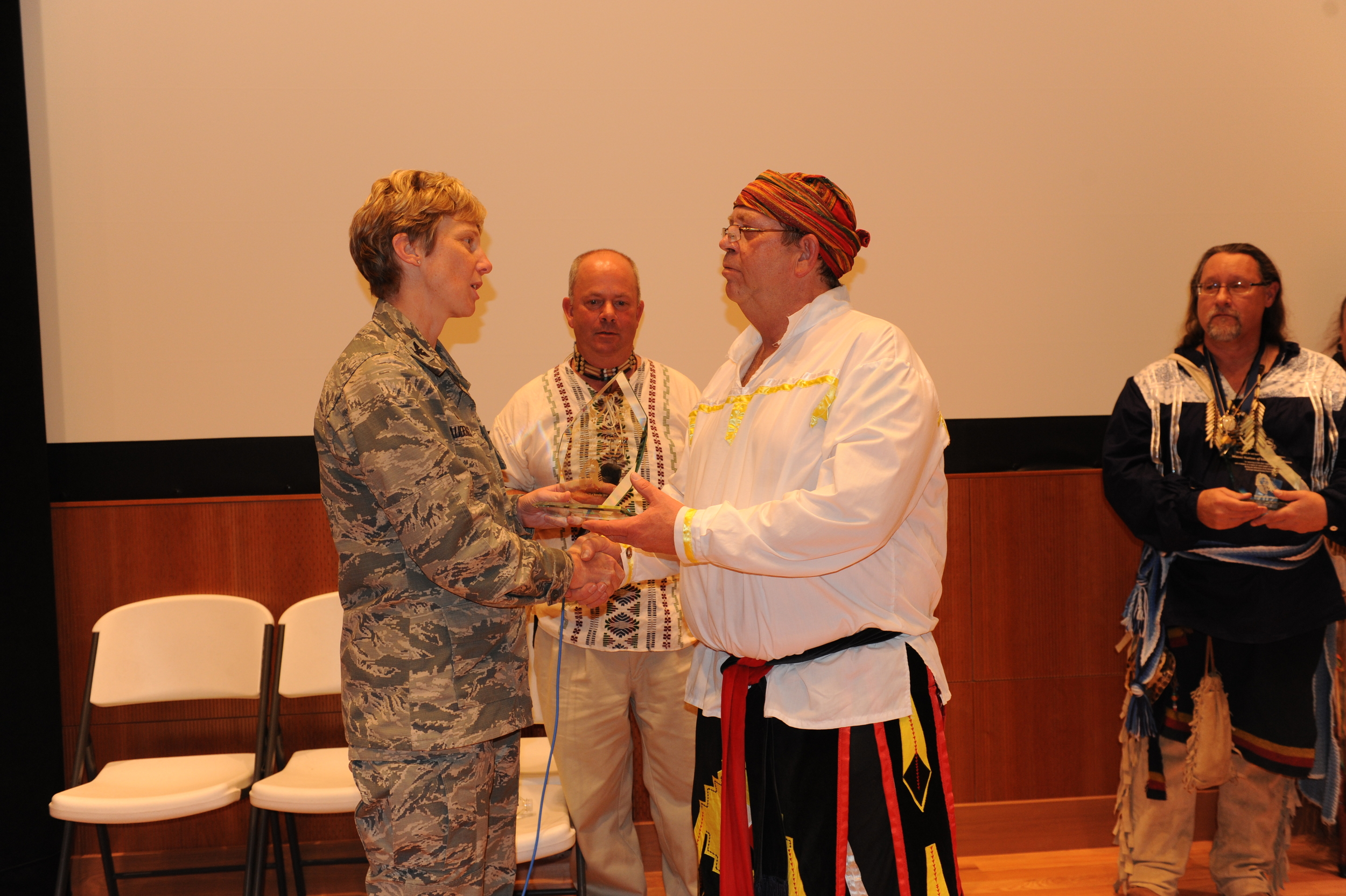 My good Friend, William Lawson from the Thunder With The Hands receiving a Recognition award from the Base Commander.