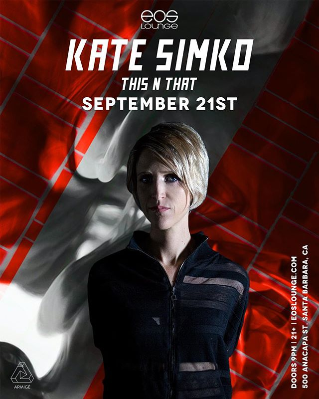 🌀NEW SHOW ANNOUNCEMENT🌀 @kate_simko is cruising through SB September 21st!! From being classically trained as a musician to her deep roots in the dance scene, the Chicago native has taken her talents to the next level with production and live performance. RSVP link in bio📍