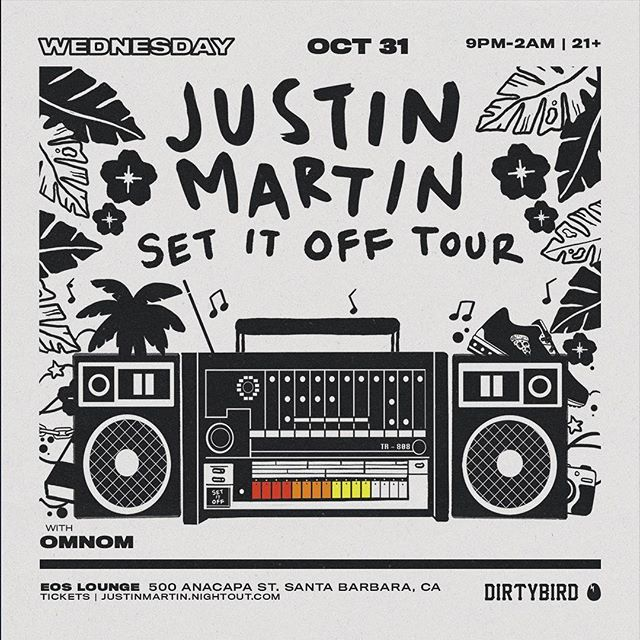 🌀SHOW ANNOUNCEMENT🌀 We've been patiently waiting for this one!! @justinmartin is getting spooky with us on Halloween!! Joined by fellow @dirtybirdrecords heavy hitter, @imomnom we're sure to be in for a treat...or trick👻 Tickets are on sale now —   link in bio📍