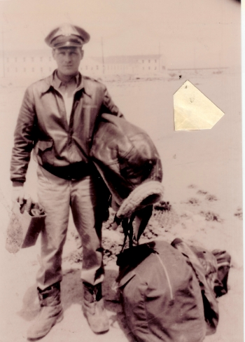 1st Lt Edward Hautman (pilot) with gear.