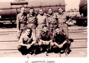 Back row, left to right: Maupin, Land; Tarbert; Waldron; Stidman (Not a final crew member  Front row, left to right: Hautman; Snidow; Friese