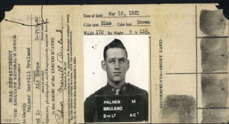 Bruland air corps id card