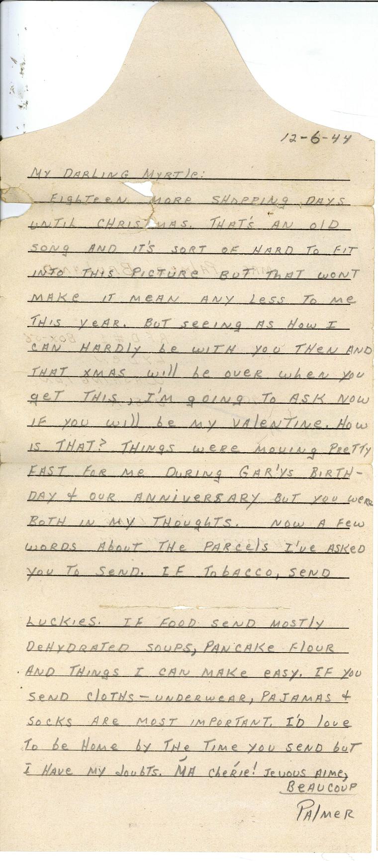 Bruland letter 12-6-44
