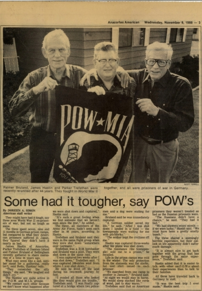 Bruland POW story after the war
