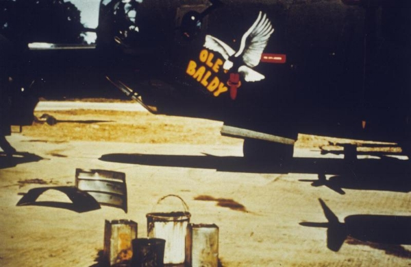 The Golden Crew's B-24 Ole Baldy built at Willow Run bomber plant.