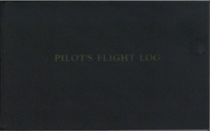 Bruland Pilot training log front cover