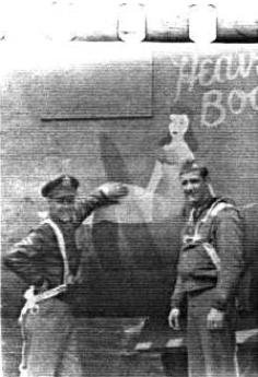 Major McCoy (right), Kassel Mission Commanding Officer