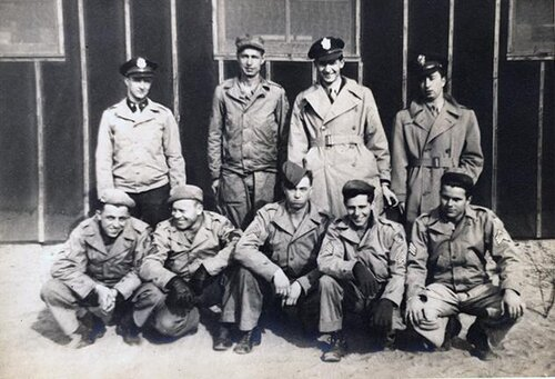 Jim Baynham with his B-24 Crew. Jim is in the second row, second from the right.  Source:  The National WWII Museum, New Orleans