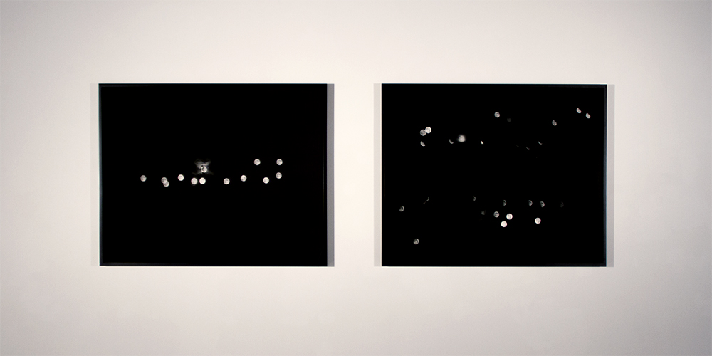 "Carrie Schneider, works from the series ""Moon Drawings,"" installation view,  Nine Trips Around the Sun"