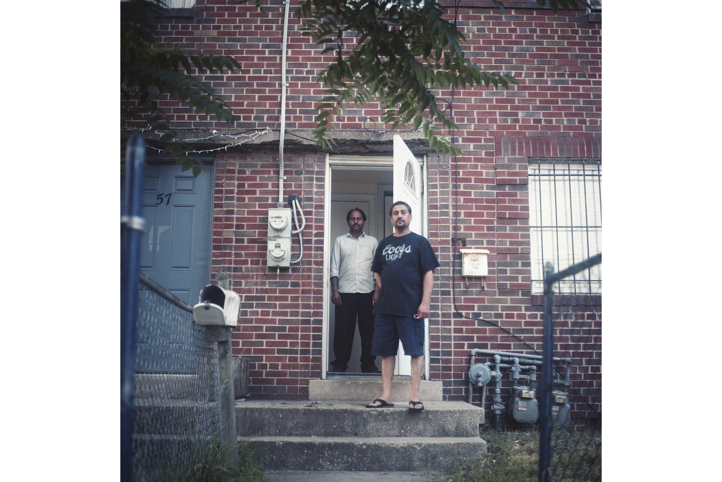 These two men immigrated to the United States from India. Like others in the area they aren't sure where they will go when they have to leave. Development often causes employment strains in areas where residents relocate to as they either have to figure out ways to commute long distance to their old jobs or fight for new jobs with an already established community.