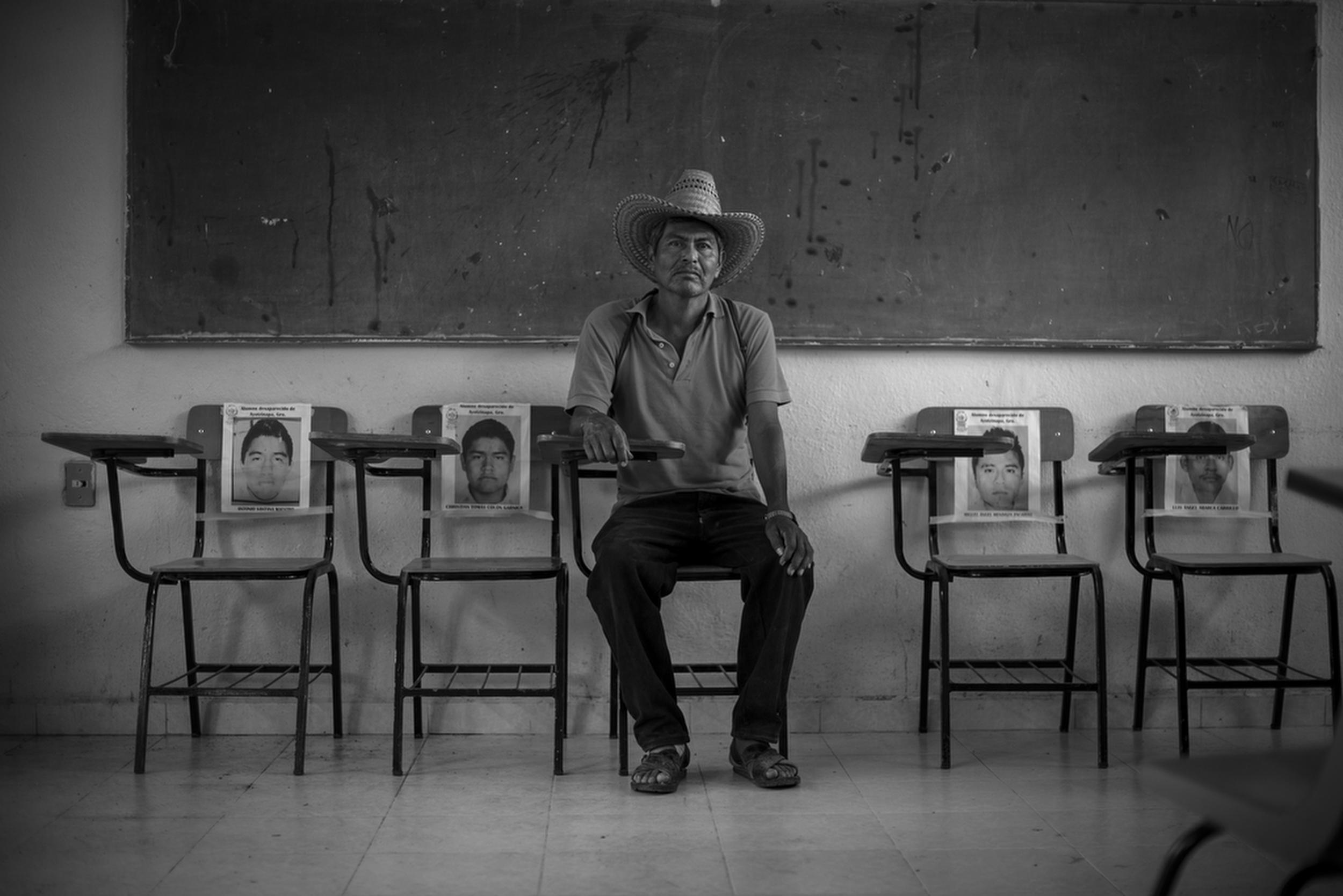 Bernardo Campos Santos' son, José Ángel Campos Santos, was among the 43 kidnapped students.Ayotzinapa, Mexico. November 13, 2014.