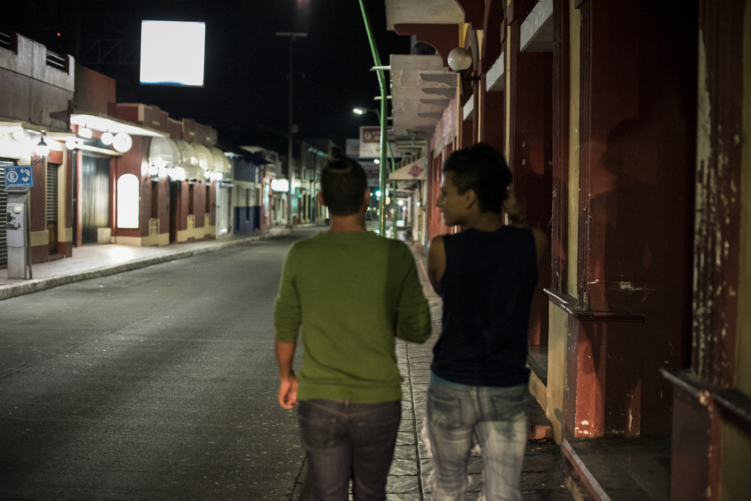 Jose (R) and Enrique (L) two transgender refugees from El Salvador both claim to have been sexually assaulted by Mexican migration officials.