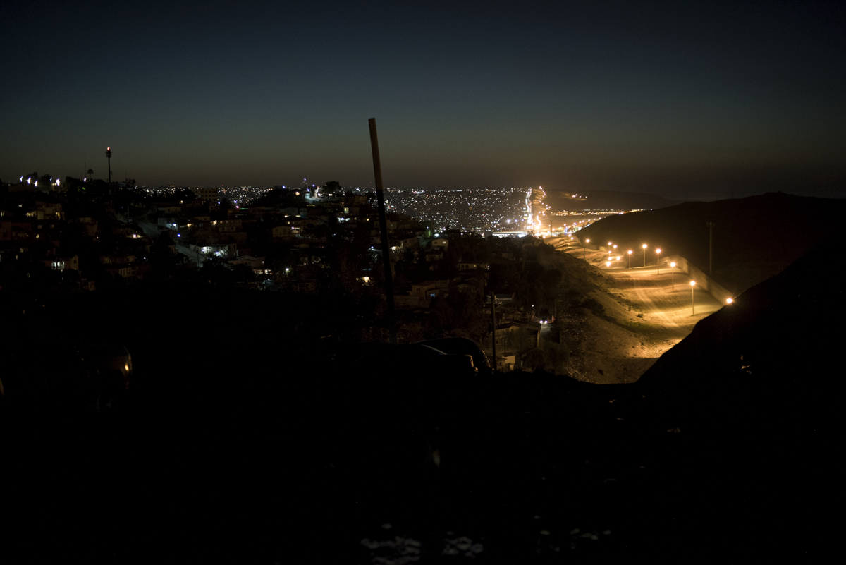 TIJUANA, MEXICO - NOVEMBER 18: A view of the U.S.-Mexico border from the Libertad neighborhood on November 18, 2016 in Tijuana, Mexico. An estimated 4,000 Haitians are in Tijuana waiting for appointments with U.S. Customs and Border Protection but with unpredictable U.S. policies, Haitians don't know until the day of their appointment if they'll be allowed to stay in the U.S. or be deported.