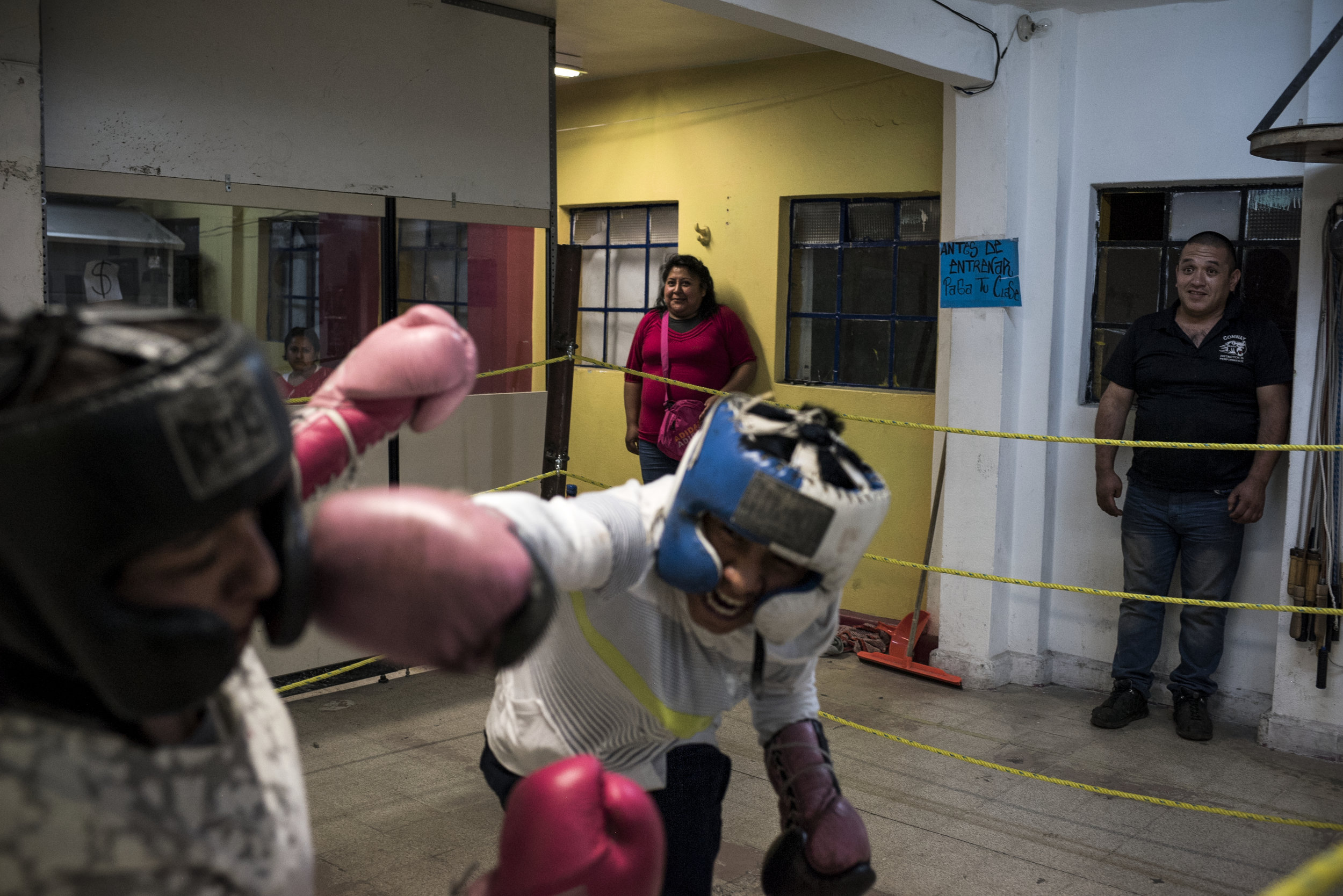 Pancho has been boxing for only four months but he's good. He's fought four times against other kids and has won them all.