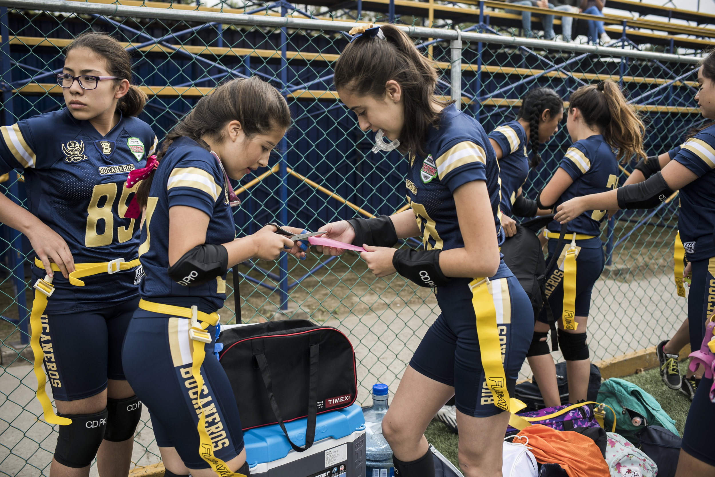 "It's not just professional leagues that are blowing up here, little league is huge. And unlike in the U.S., it's popular with girls too. As Isabella Villalobos, second from left, prepares for her second ever game she says, ""It's the best sport you can play."""