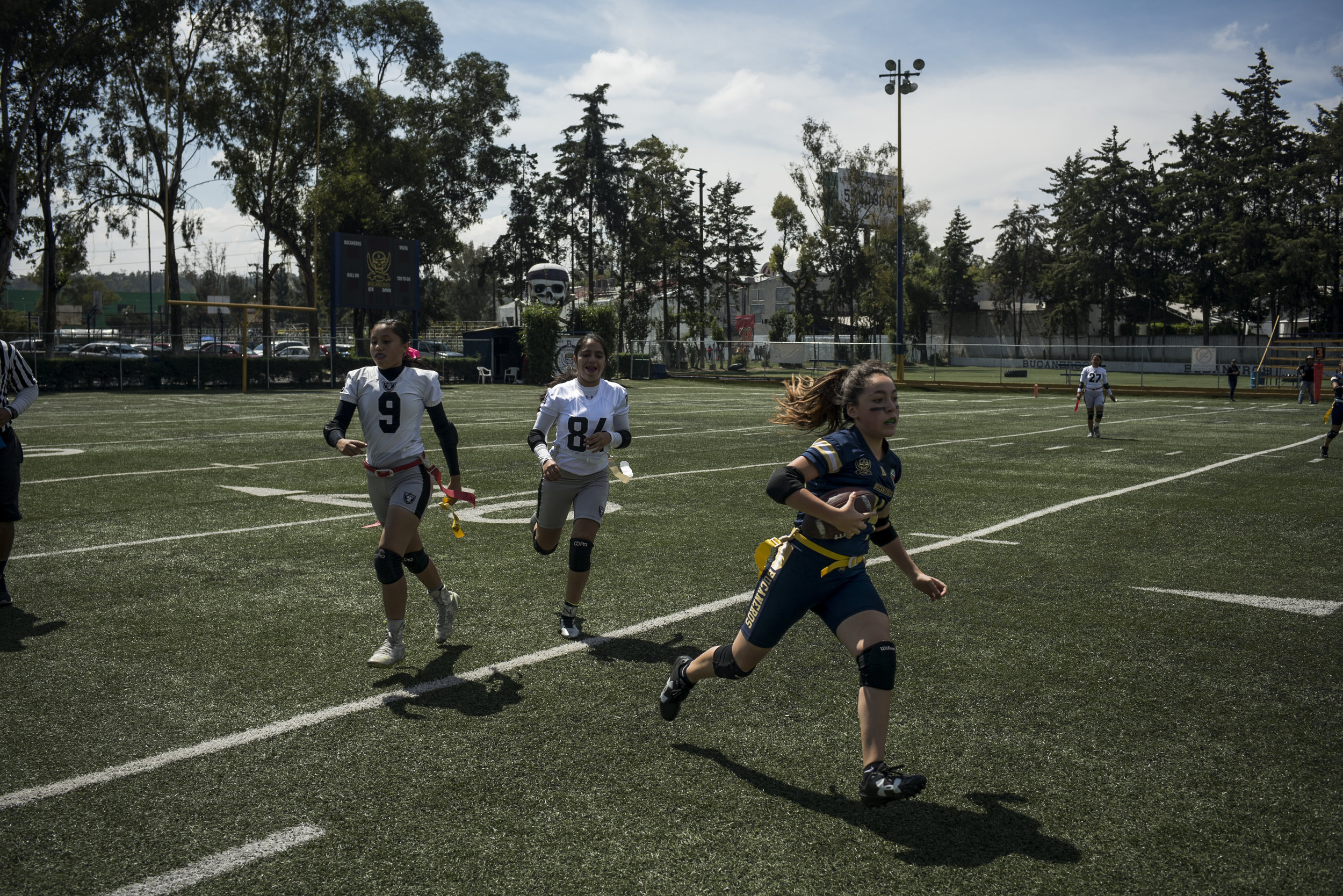 The NFL, which sponsors touchito – Spanglish for touch football – estimates that nationwide 2.5 million boys and girls play the sport. The NFL's business and viewership, meanwhile, has been grown 300 per cent in recent years.