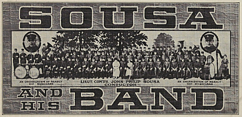 Sousa and His Band (1920 poster).