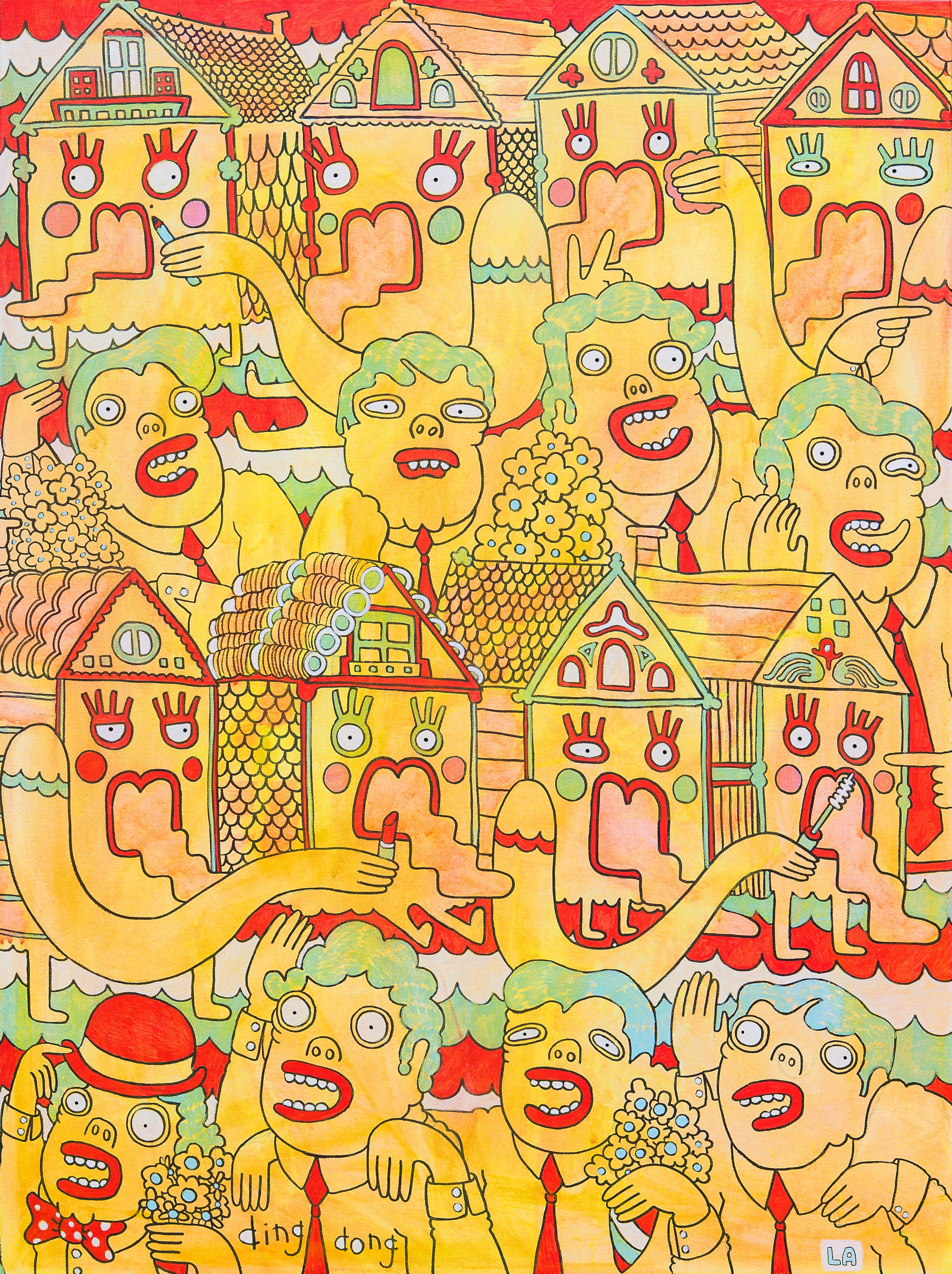 PAINTED LADIES 20''x40'' ACRYLIC ON CANVAS
