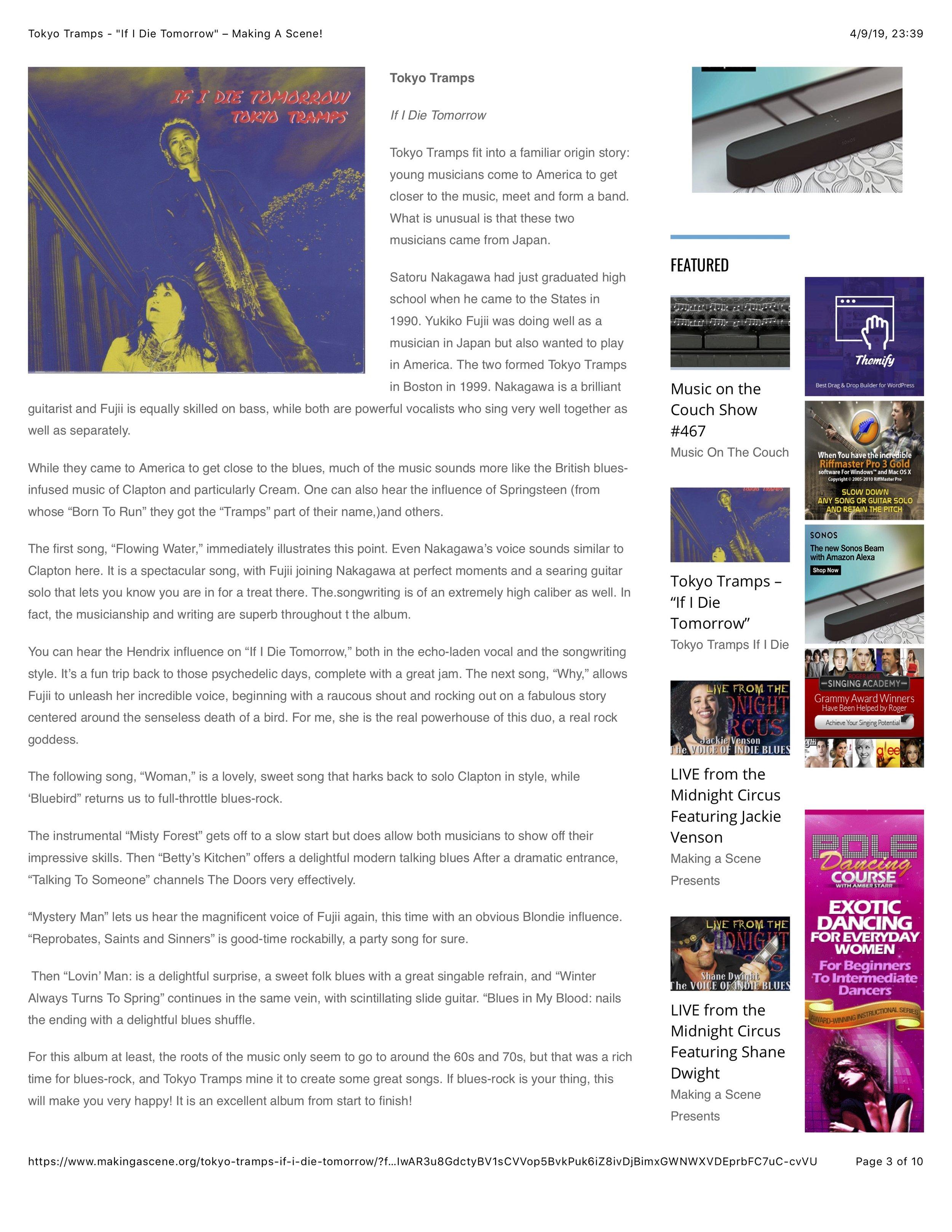 Music Reviews — TOKYO TRAMPS