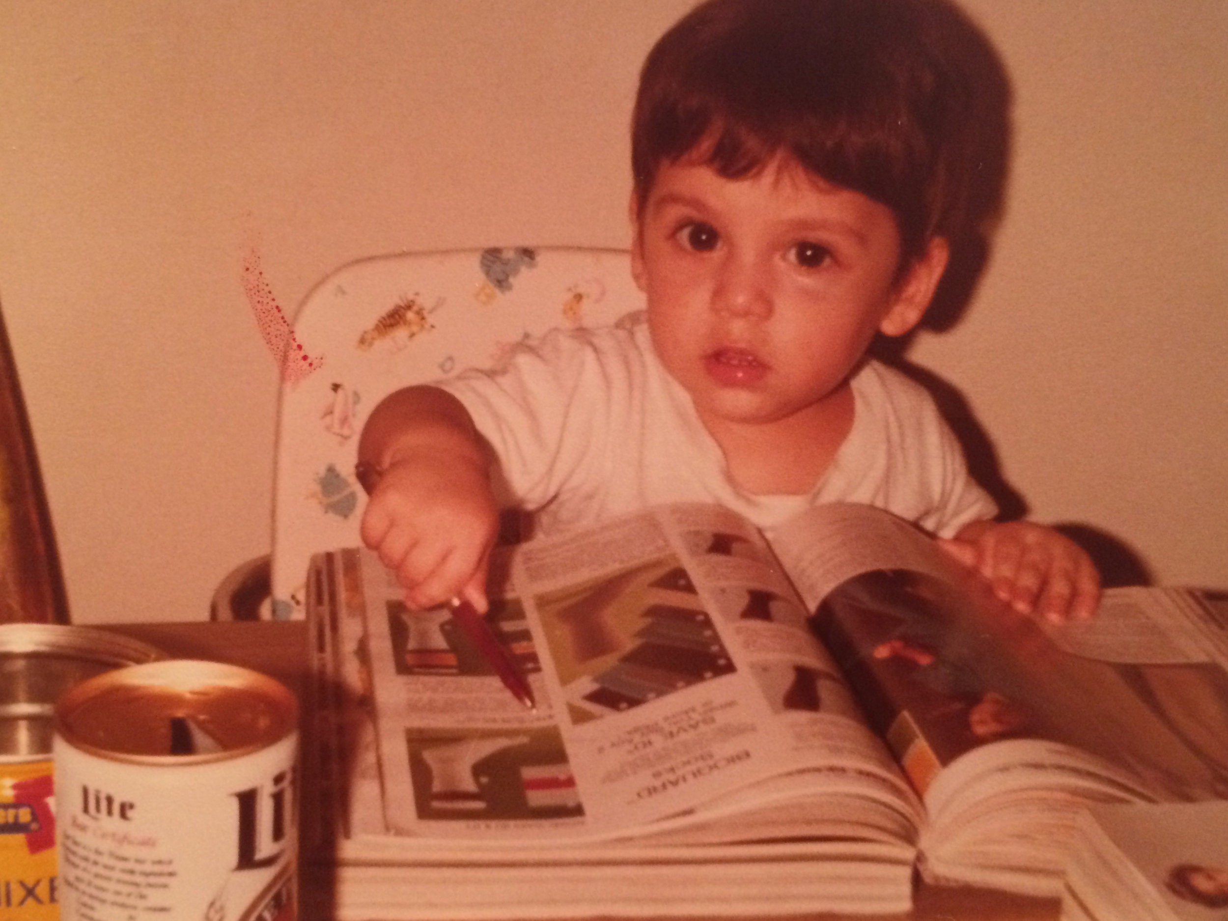 It all started at a very young age. (My passion for design, not Miller Lite.)